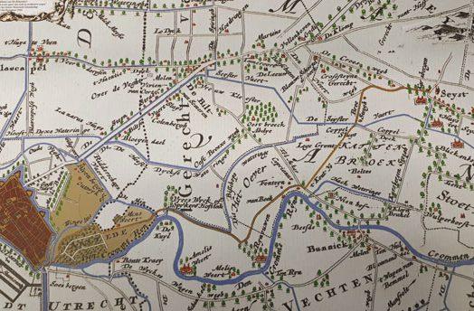 Kaart van Utrecht naar Seijst